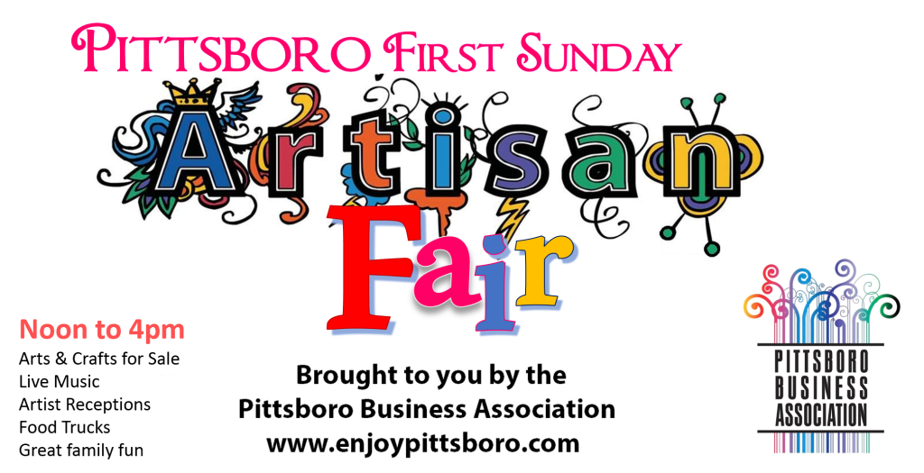 Pittsboro First Sunday Artisan Fair March 1 2015
