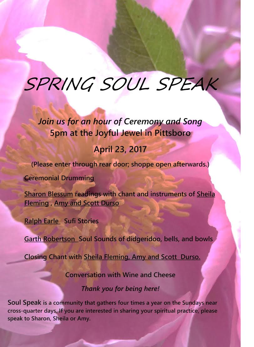 Spring soul speaks welcome to pittsboro north carolina spring soul speaks april 23 2017 at the joyful jewel mightylinksfo