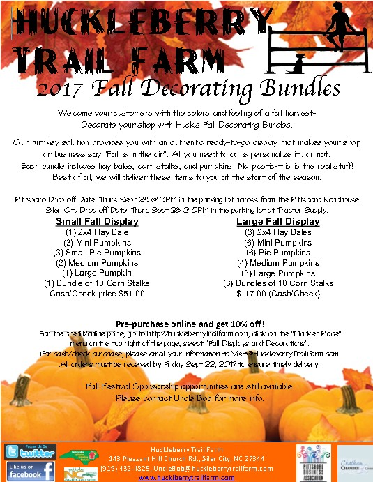 Get your fall decorating bundles from Hickory Trail Farm!