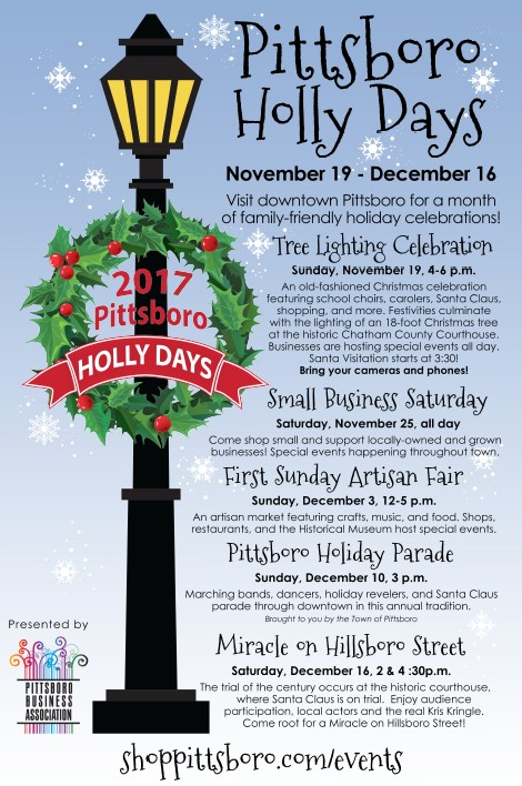Pittsboro Holly Days Events