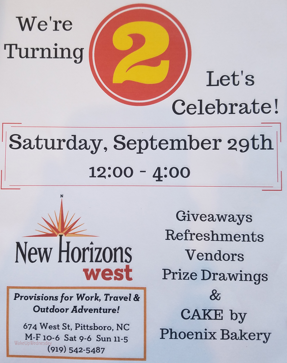 New Horizons West Second Birthday Party!