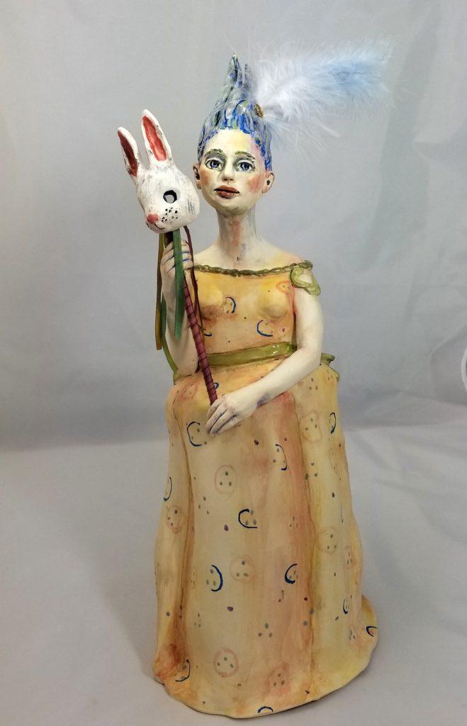 "Judith Maier, ""Masked,"" on display at Liquidambar in October."