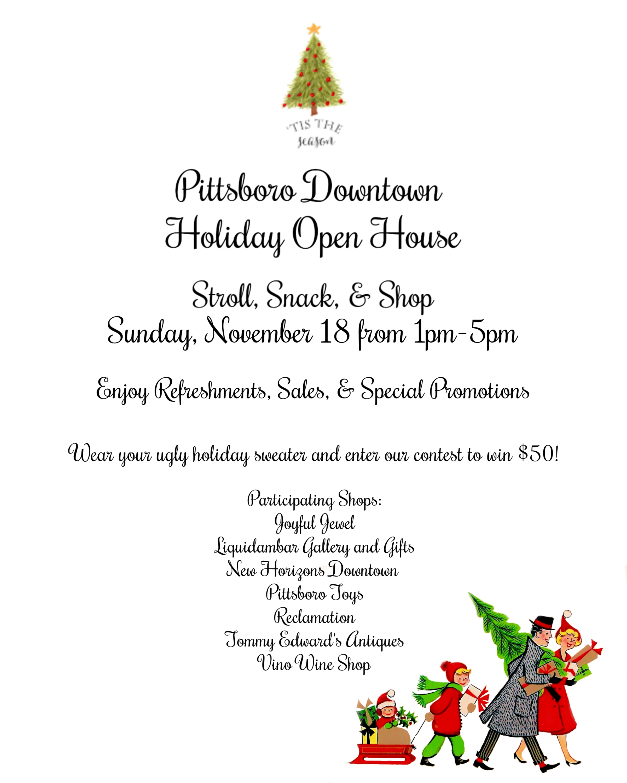 Pittsboro's Holiday Open House!