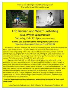 Eric Wyatt house concert at the Joyful Jewel.