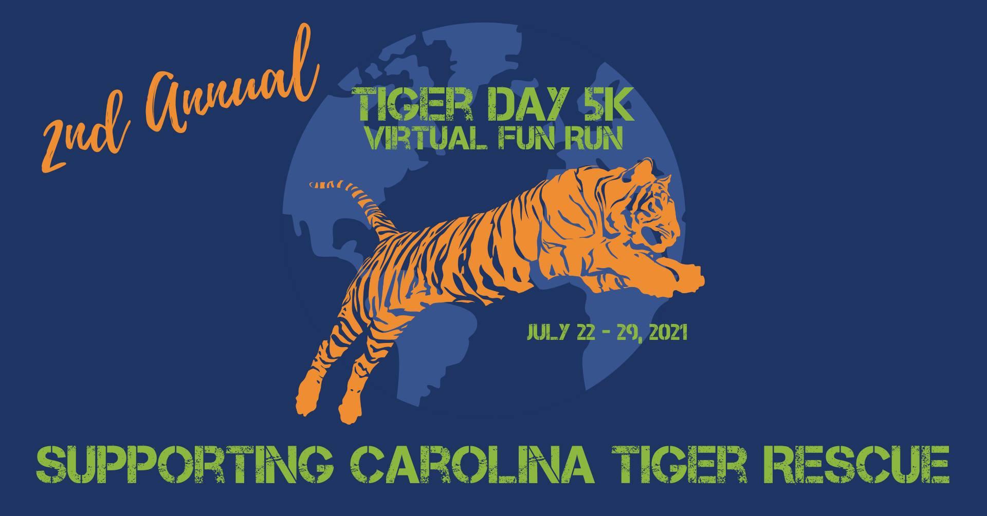 Tiger Day Fun Run tshirt for 2021
