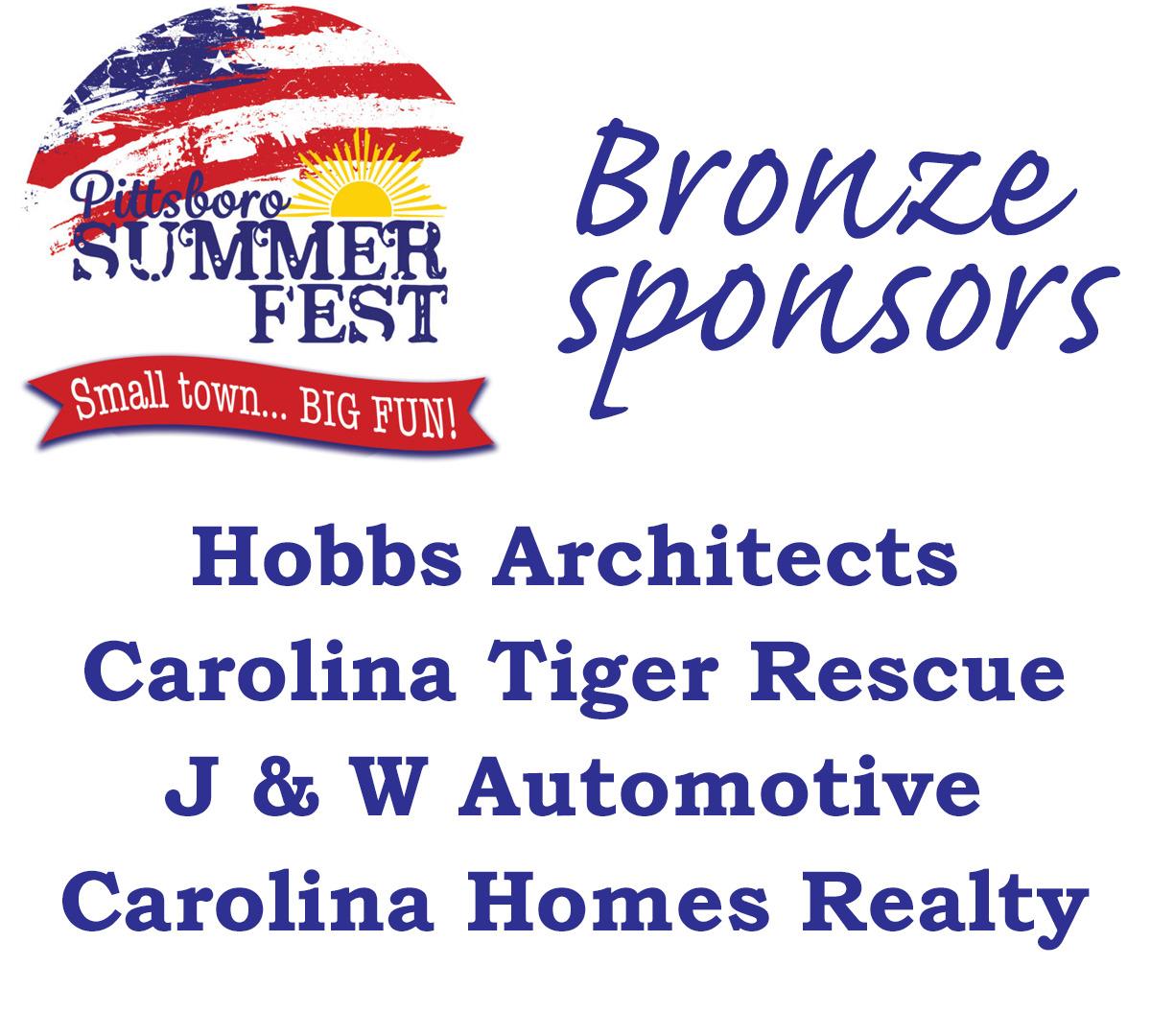 Summer Fest 2021 Bronze sponsors