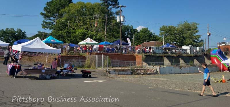 Summer Fest vendors on Hanks Street.