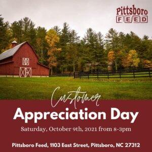 Pittsboro Feed customer appreciation day